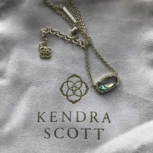 Kendra Scott Elisa Gold Abalone Shell Necklace